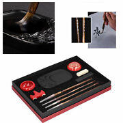 Red Porcelain Chinese Calligraphy Set Gift Boxed Brush Pen +ink +paper +inkstone
