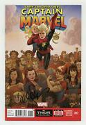 Captain Marvel 2012 7th Series 17a Fn 6.0 Signed