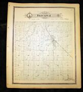Brockway Township Antique Plat Map 1898 St. Clair County Michigan 15x17½