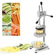 New Stainless Steel French Fry Cutter Potato Vegetable Slicer Chopper 3 Blades