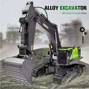 High Tech 114 Rc Excavator 22ch Rotation Alloy Remote Control Truck Toys Screw