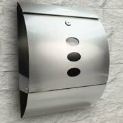 New Stainless Steel Mailbox Wall Mount Lockable Durable Newspaper Letter Storage