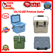 10l / 10.6 Quart Premium Ice Chest/cooler With 2 Molded-in Cup Holders Camp-zero