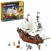 Lego Creator 3in1 Pirate Ship 31109 Building Kit Playset 1,260 Pieces 2020