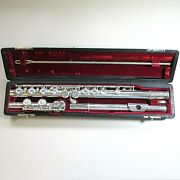 Vintage 1937 Haynes Solid Sterling Closed Hole Flute 14784 Boston Mass. In Case