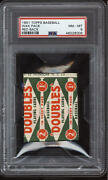 1951 Topps Red Back Unopened Pack Psa 8 Nm-mint
