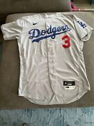 Chris Taylor Game Used Worn Home Run Jersey 3 Games Photomatched Dodgers Mlb