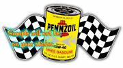 Pennzoil Oil Can Contour Cut Vinyl Decals Sign Stickers Motor Oil Gas Globes