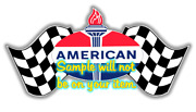 American And039b Gasoline Contour Cut Vinyl Decals Sign Stickers Motor Oil Gas Globes