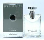 Pour Homme Extreme By Bvlgari For Men 3.4 Oz Edt New
