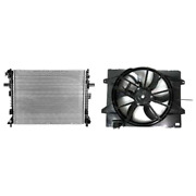 Radiator And Engine Cooling Fan Assembly Kit For 06-11 Ford Crown Victoria