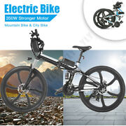 26and039and039electric Bike Mountain Bicycle City Folding Ebike 21speed Bike 350w 3types