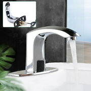 Touchless Sensor Basin Sink Faucet Bathroom Non Contact Cold Water Sink Tap Kit