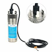 12v Dc Solar Batter Shell Submersible 3.2gpm 10a Deep Well Water Pump Stainless