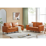 Sofa Loveseat Sets Morden Pu Leather Couch Furniture Upholstered Living Room Us
