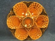 Antique French Majolica Oyster Plate Shells And Seaweed