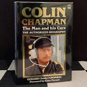 Colin Chapman Man And His Cars Biography Book Team Lotus Gold Leaf Jps 72 78 79