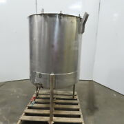 Vertical W/ Stand 180 Gallon Stainless Steel Open Top Tank Holding Storage