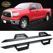 Fits 07-21 Toyota Tundra Double Cab V2 Running Boards Black Side Step Nurf Bar