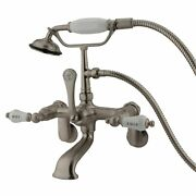 Kingston Brass Cc53t8 Vintage Wall Mount Clawfoot Tub Faucet With Hand Shower...
