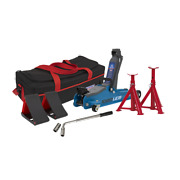 Sealey Low Entry Short Chassis Trolley Jack - Blue Bag Combo 1020lebbagcombo