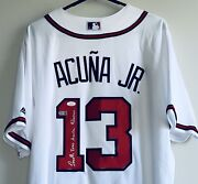 Ronald Acuna Jr. Signed Full-name Authentic Braves Autographed Jersey Jsa Usasm