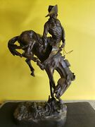 Frederic Remington Bronze Sculpture The Outlaw - Reproduction