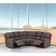 80 X 80 X 39 Brown Power Reclining Sectional