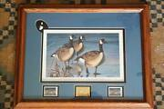 1995-1996 Iowa Ducks Unlimited Deluxe Numbered Signed Art Print Canada Geese