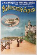 Mediterranee-express Cie Intle Wagons Lits Grands Express 1910 Old Poster