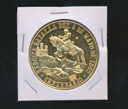1962 Mexico Medal 5 De Mayo Battle 100th Anniv 37.5 Gr Pure Gold Unc - New Offer