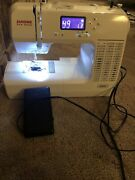 Janome New Home Sewing Machine 8050 Computerizied With Pedal Great Condition