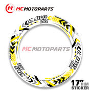 Premium 17and039and039 Rim Sticker Decal For Yamaha Mt01 Mt03 Mt07 Mt09 Mt10 Yzf R1 R3 R6