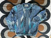 Vintage Coogi Blues 3d Knitted Cotton Jumper Made In Australia Medium