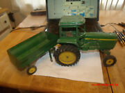 Large Vintage Ertl 1960s-70s John Deere Tractor And Wagon.a Few Parts Off
