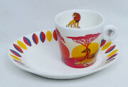 Figure Disney English Ladies Porcellain The Lion King Espresso Cup And Saucer