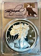2020 W V75 Privy Proof Silver Eagle Pcgs Pr70 Dcam First Day Of Issue Cleveland