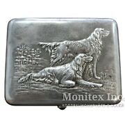 Vintage Old Ussr Cigarette Case Sterling Silver 875 Imperial Russia Weight 177 G