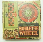 Vintage Spin-er-ette Tin Litho Roulette Wheel By Louis Marx And Co. Rare 1930s