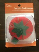 Dritz Tomato Pin Cushion With Strawberry Emery 4red 1-count- New - Nostalgic