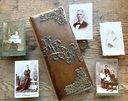 Packed C1890 Cabinet Card 50 Photo Album Galesburg Illinois Family Moline Old