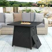 Patio Square Propane Gas Fire Pit Table Stainless Steel Heater Control Knob Us