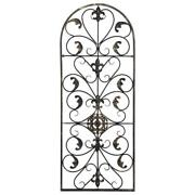 Large Tuscan Wrought Iron Metal Wall Decor Art Rustic Vintage Garden Patio Home