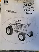 Cub Cadet 72, 104, 105, 124 And 125 Operator And Service Manual