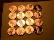 Partial 16pc Roll Of 1997-s Proof Choice/gem Lincoln Cents
