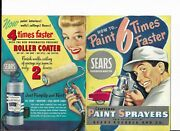 Sears Craftsman Vintage Paint Sprayers Brochure-how To Paint 6 Times Faster