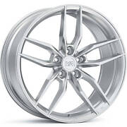 4 Staggered 20x10 / 20x11 Variant Krypton Brushed 5x110 +40/+35 Wheels Rims