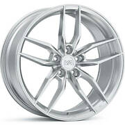 4 Staggered 20x10 / 20x11 Variant Krypton Brushed 5x4.5 +25/+30 Wheels Rims