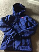 The Womens Full Zip Royal Blue Hooded Jacket - S