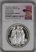 2020 Royal Mint Three Graces Silver Proof Two Ounce 2oz Ngc Pf69 Ucam Fr